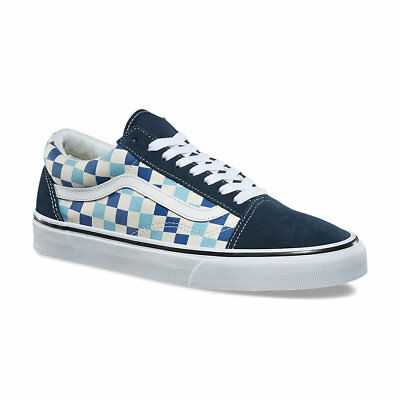 blue checkered vans
